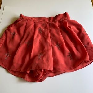 The Vintage Coral Shorts w/Cross embezzlement sz S